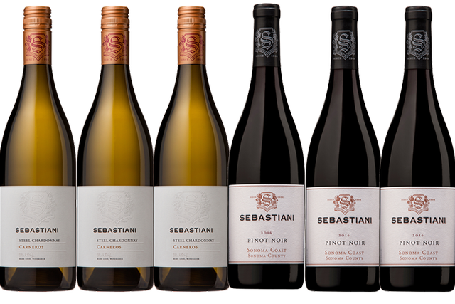 6 Bottles of Mixed Red and White Wines by Sebastiani