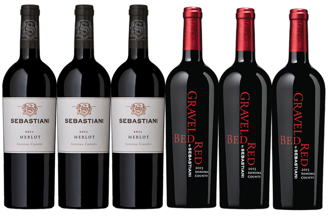 6 Bottles of Red Wine by Sebastiani
