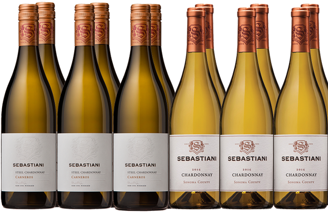 12 Bottles of White Wine by Sebastiani