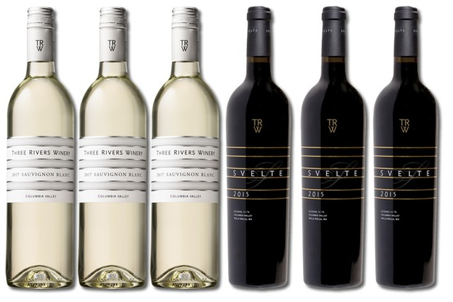 6 Bottles of Mixed Red and White Wines by Three Rivers Winery