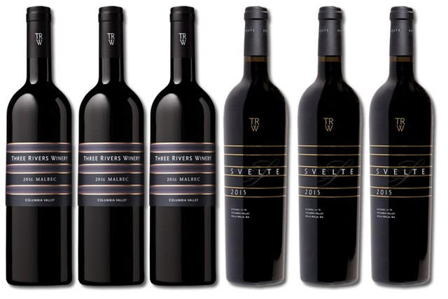 6 Bottles of Red Wine from Three Rivers Winery