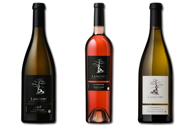 3 Bottles of mixed white and rose wines from Langtry