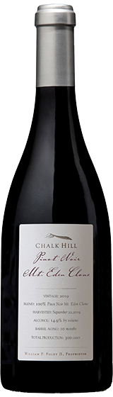 2019 Chalk Hill Mt. Eden Clone Pinot Noir, Russian River Valley