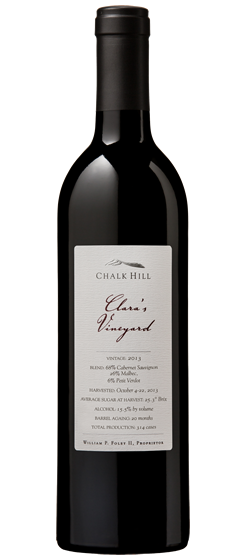 2013 Chalk Hill Clara's Vineyard Red, Chalk Hill AVA