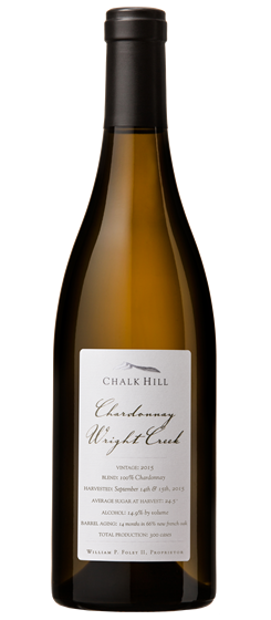 2015 Chalk Hill Wright Creek Chardonnay, Chalk Hill AVA