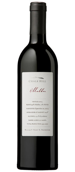 2015 Chalk Hill Chairman's Club Malbec, Chalk Hill AVA