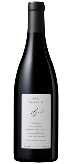 2014 Chalk Hill Chairman's Club Syrah, Chalk Hill AVA
