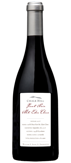 2016 Chalk Hill Mt. Eden Clone Pinot Noir, Chalk Hill AVA
