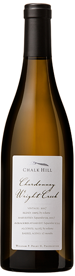 2017 Chalk Hill Chardonnay Wright Creek, Chalk Hill AVA