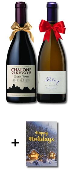 2018 FIS Celebrate the Holidays Wine Duo (w/card NC)