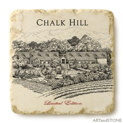 Chalk Hill Tumbled Marble Coaster